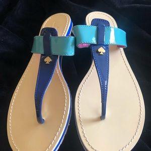 kate spade Shoes - Kate Spain patent thong flip flops SZ 10